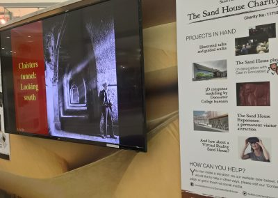 The Sand House Charity information board